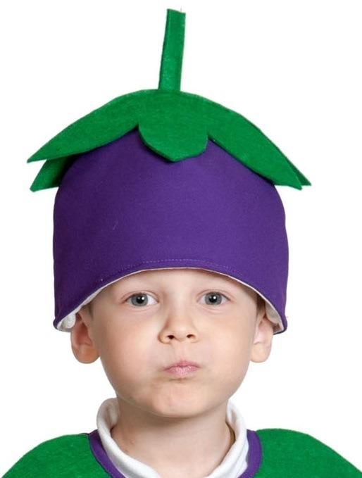 Детская шапка Баклажан (UNI) -  Шляпы карнавальные