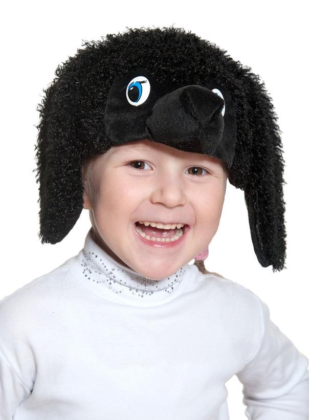 Детская маска Черного Пуделя (UNI) плюшевая маска зайки uni