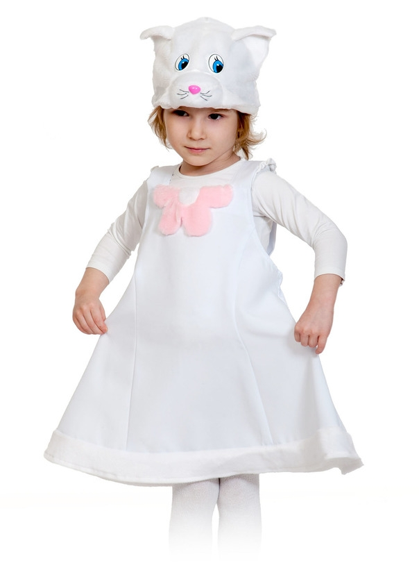 Детский костюм Белой кошки (26-32) костюм маленькой снежинки 32