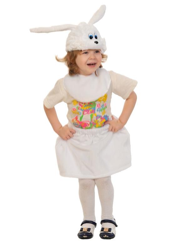 Детский костюм Белой Зайчишки (28-30) детский костюм сказочного клоуна 30