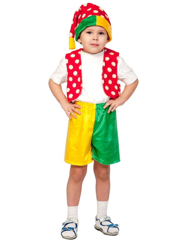 Детский костюм Яркого Петрушки (28-30) детский костюм сказочного клоуна 30