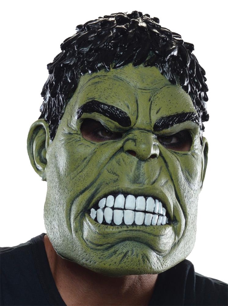 Взрослая латексная маска Халка (UNI) - Карнавальные маски