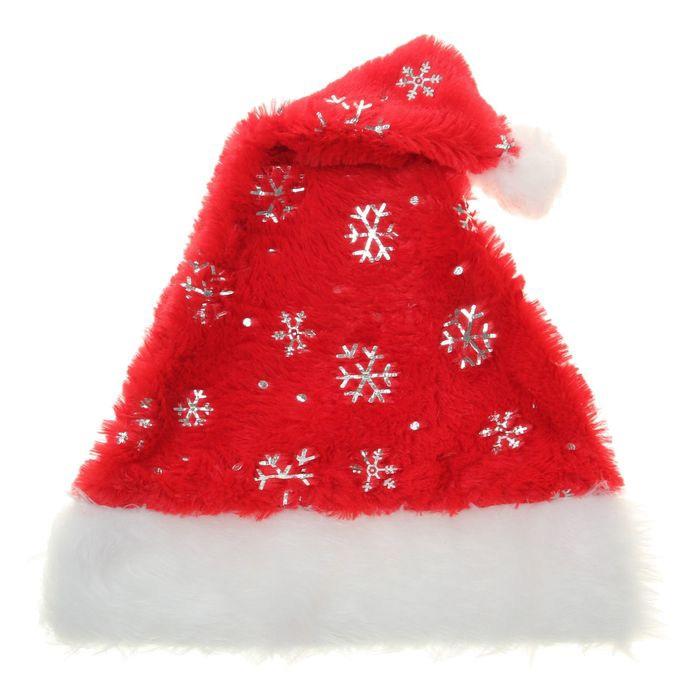 Колпак Санты со снежинками (UNI) - Шляпы карнавальные