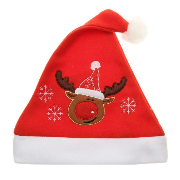 Колпак новогодний с оленем (UNI) - Шляпы карнавальные