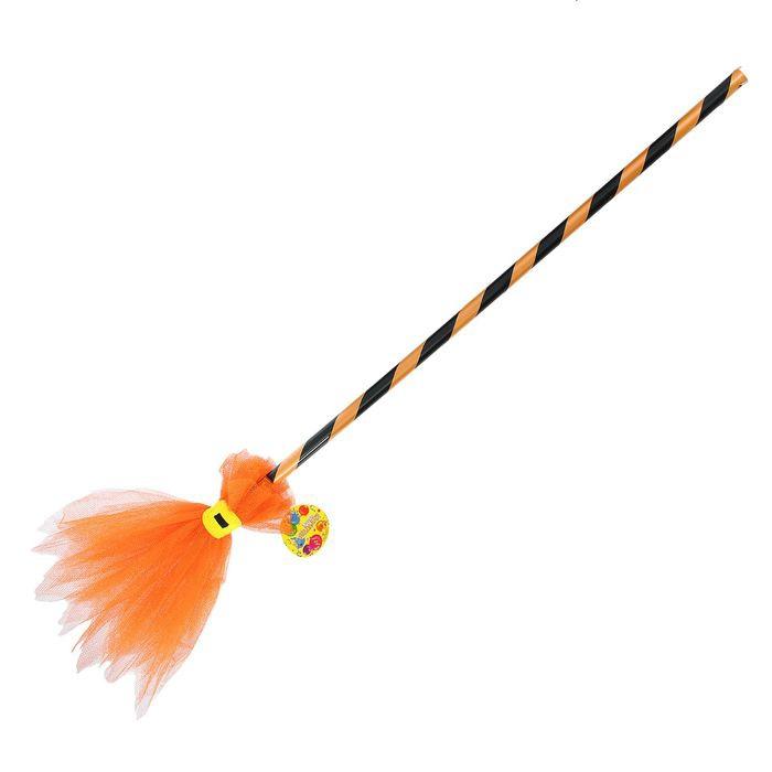 Оранжевая детская метла (UNI) -  Ведьмы и колдуны