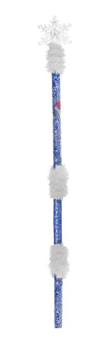 Посох синий разборный Снежинка (UNI) -  Новогодние костюмы