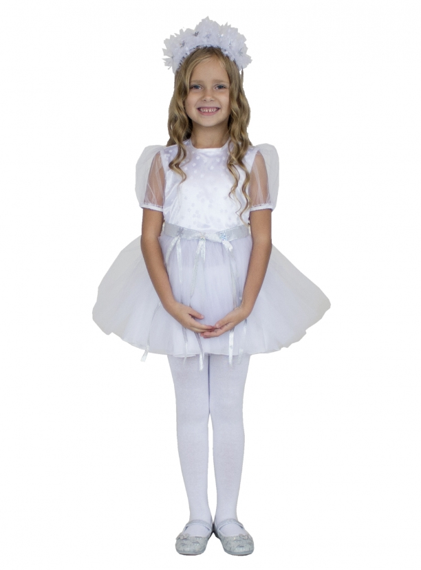 Детский костюм Хрустальной Снежинки (26) детский костюм зимней снежинки 32