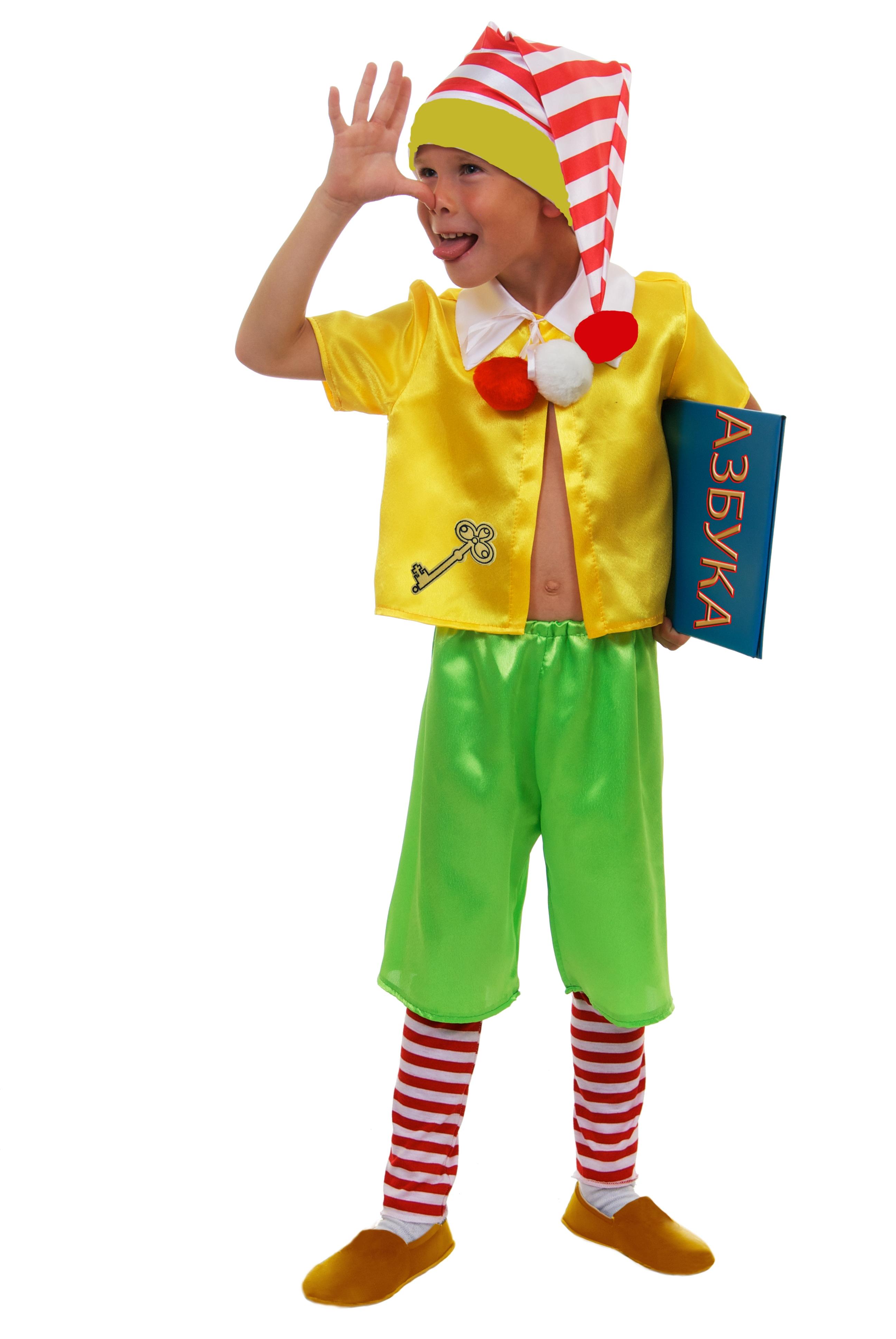 Детский костюм Буратино (26-28) детский костюм озорного клоуна 34