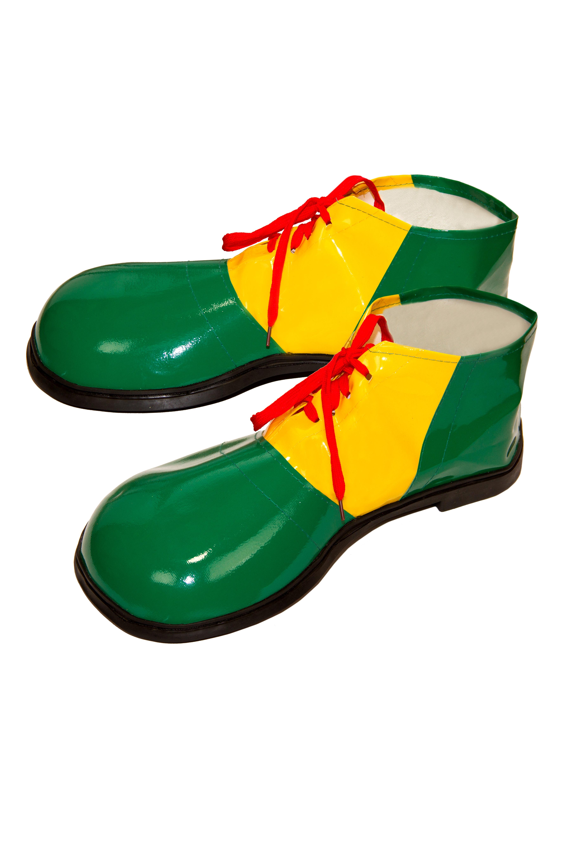 Взрослые зеленые башмаки Клоуна (UNI) - Обувь для костюмов