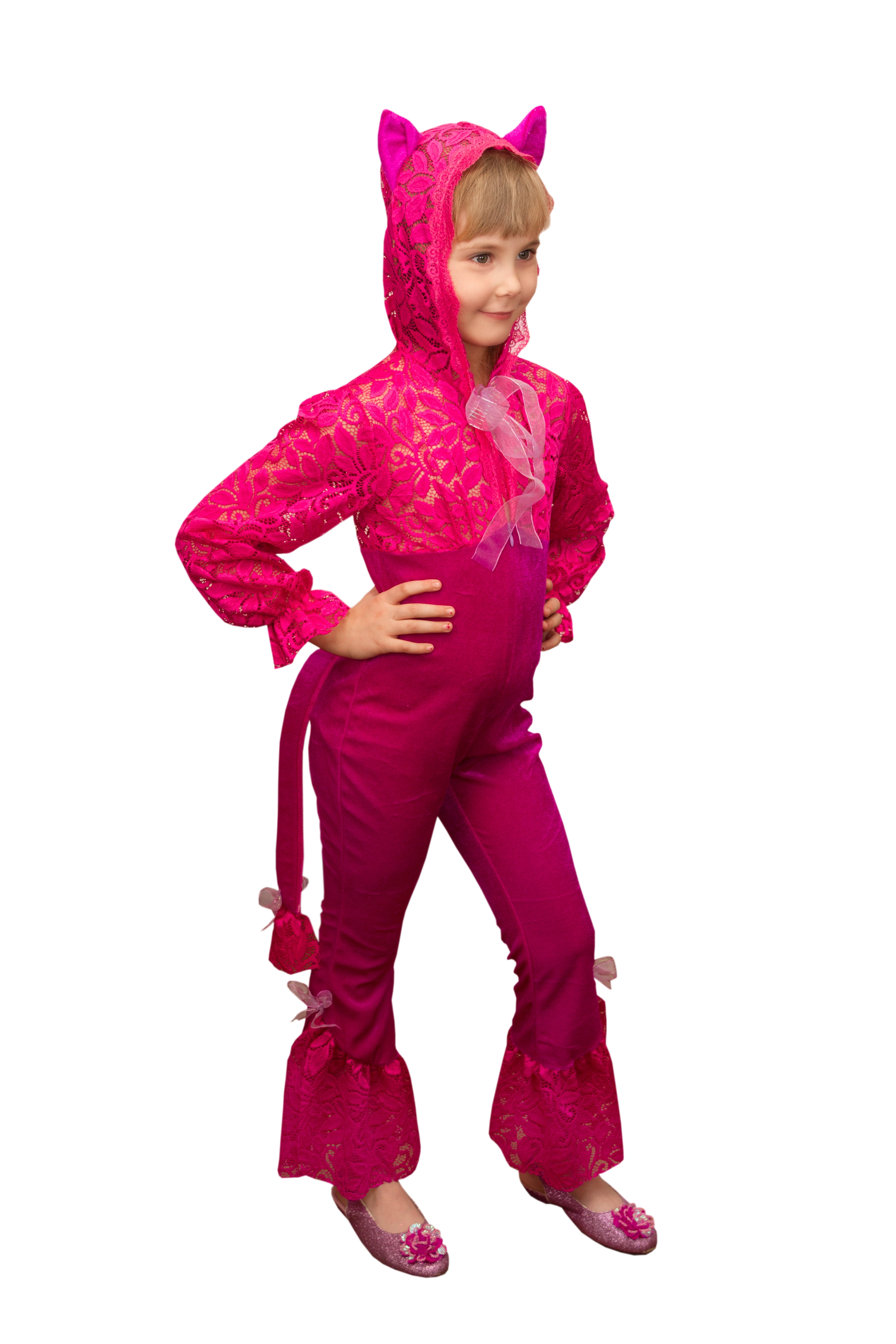 цена Детский костюм Розовой Кошки (26-28) онлайн в 2017 году