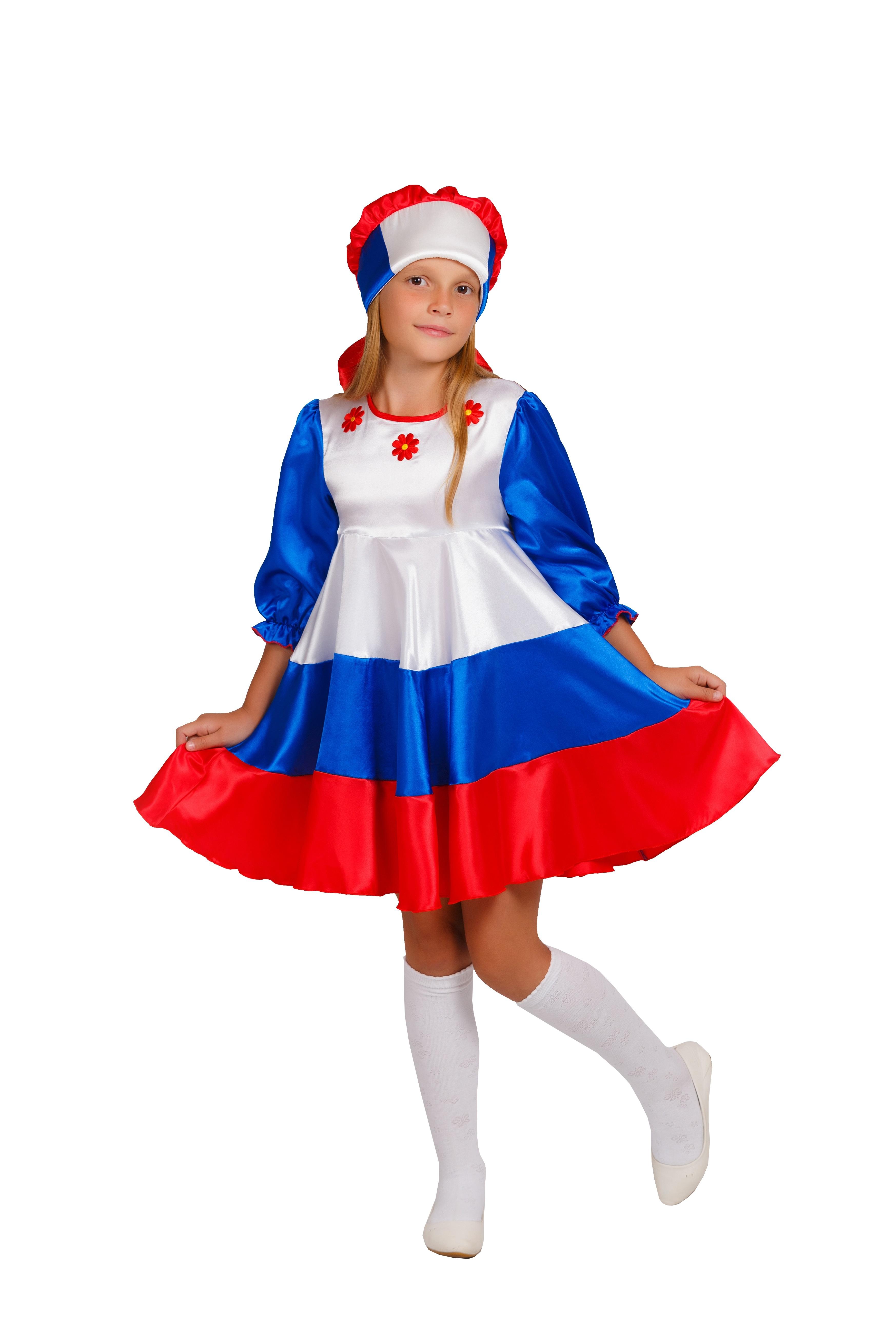 Детский костюм Патриотки России (34) детский костюм озорного клоуна 34