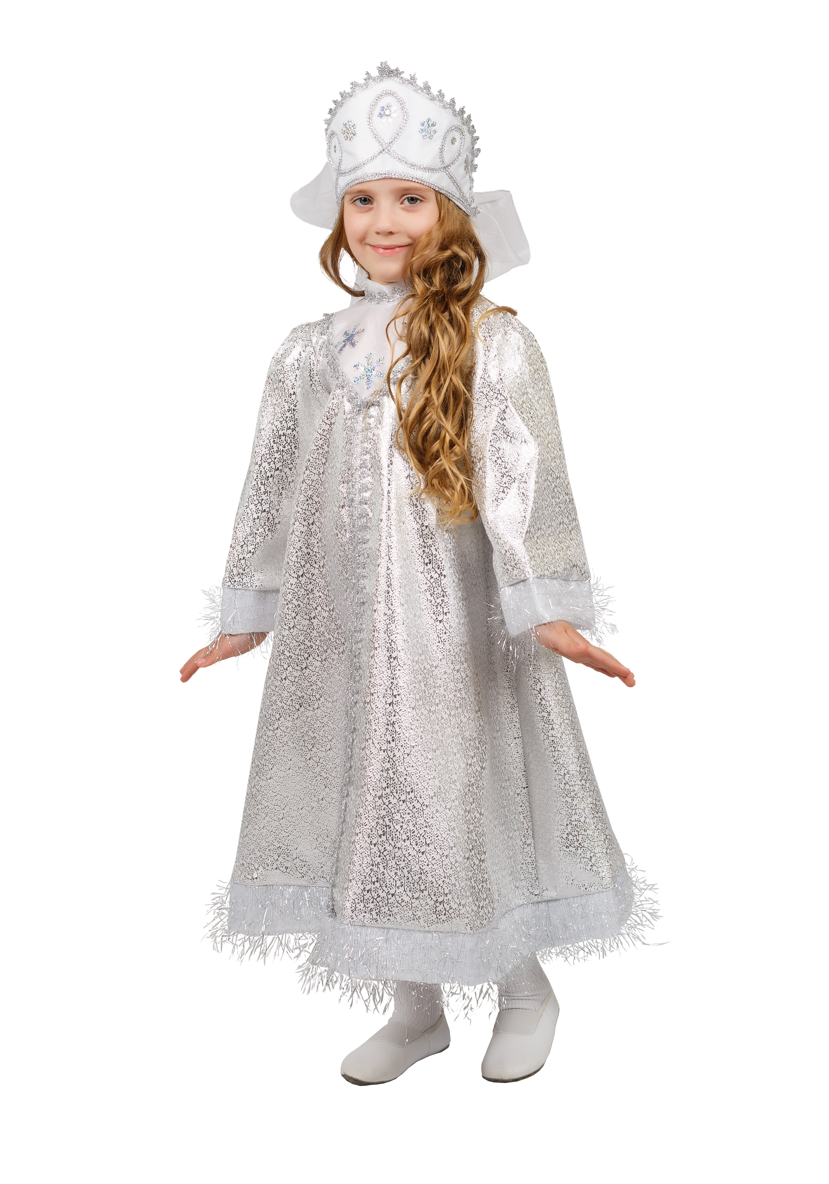 Детский костюм Сверкающей Снегурочки (30-32)