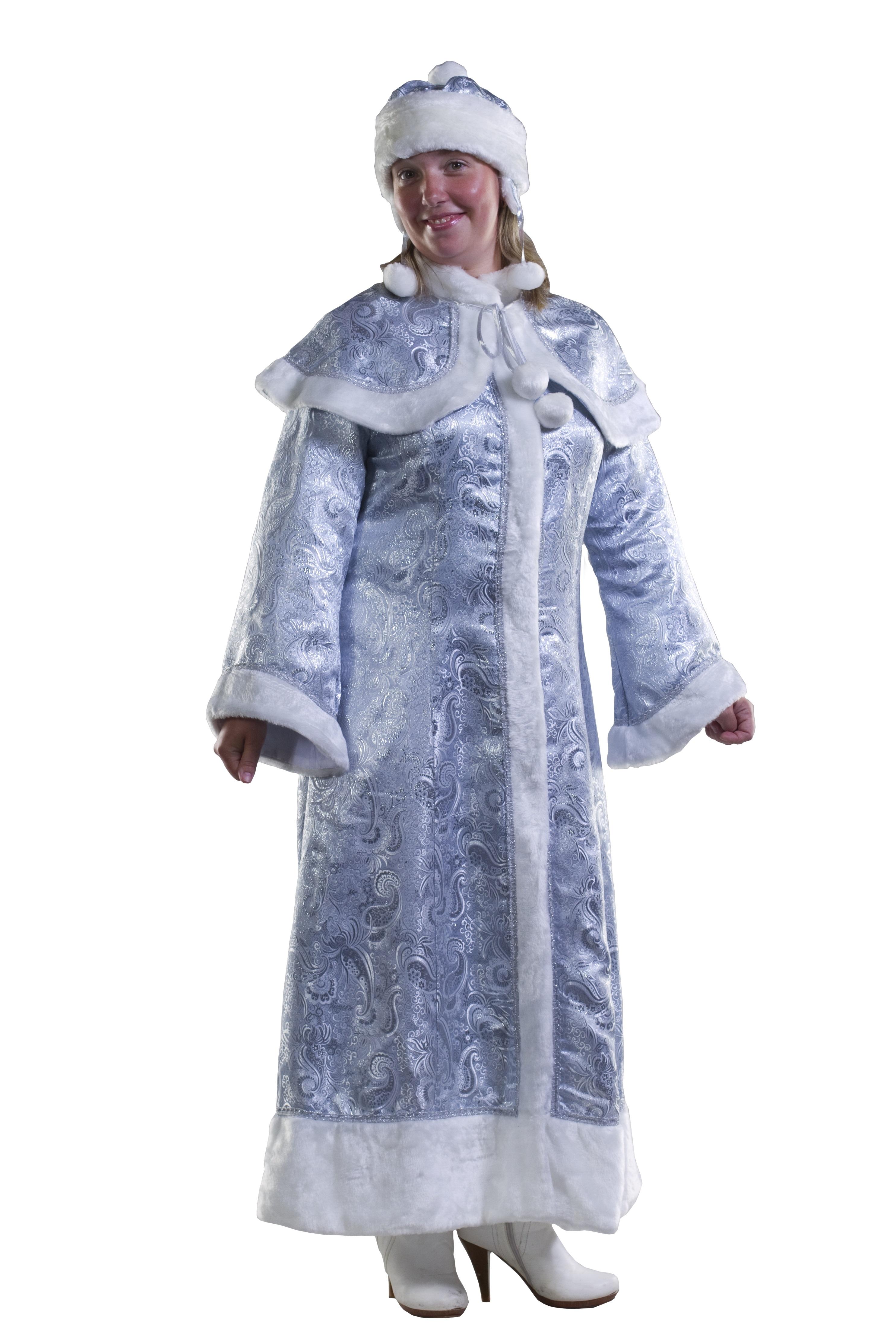 Костюм Серебристой Снегурочки (46-50) костюм снегурочки конфетки 40 44