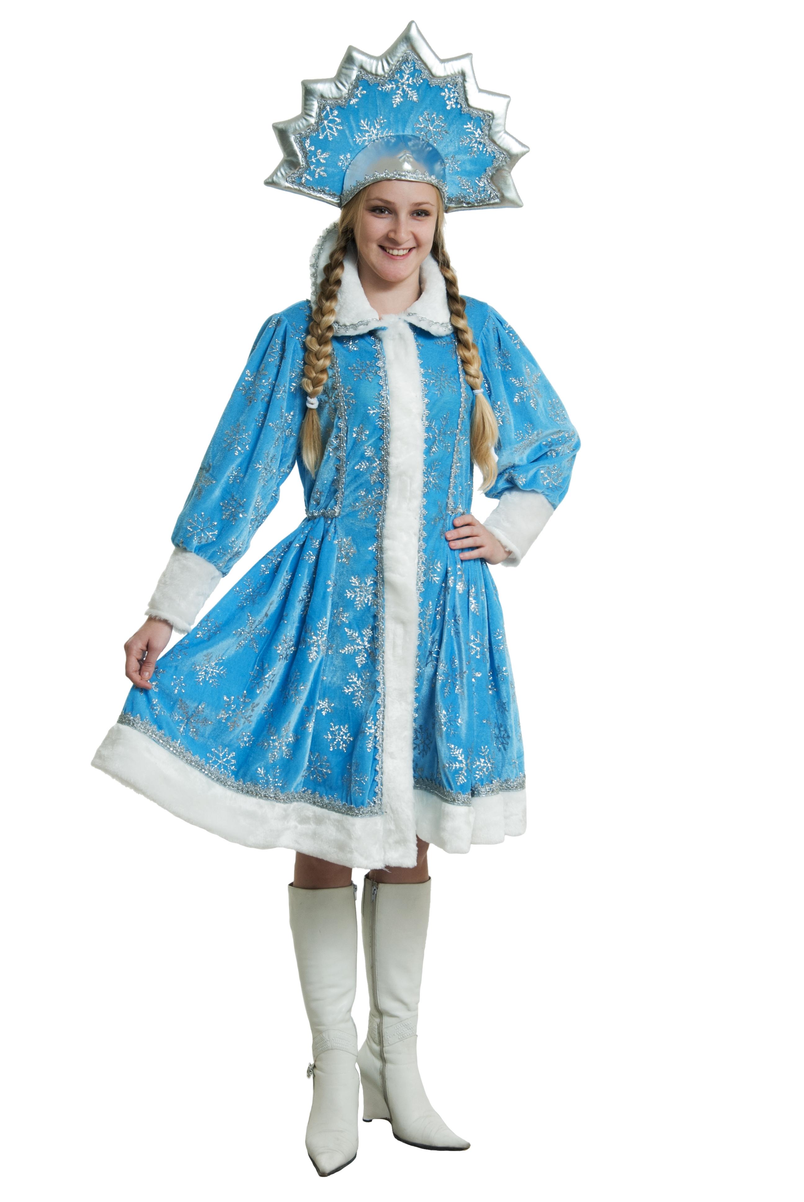 Костюм Снегурочки с Кокошником (44-46) -  Новогодние костюмы