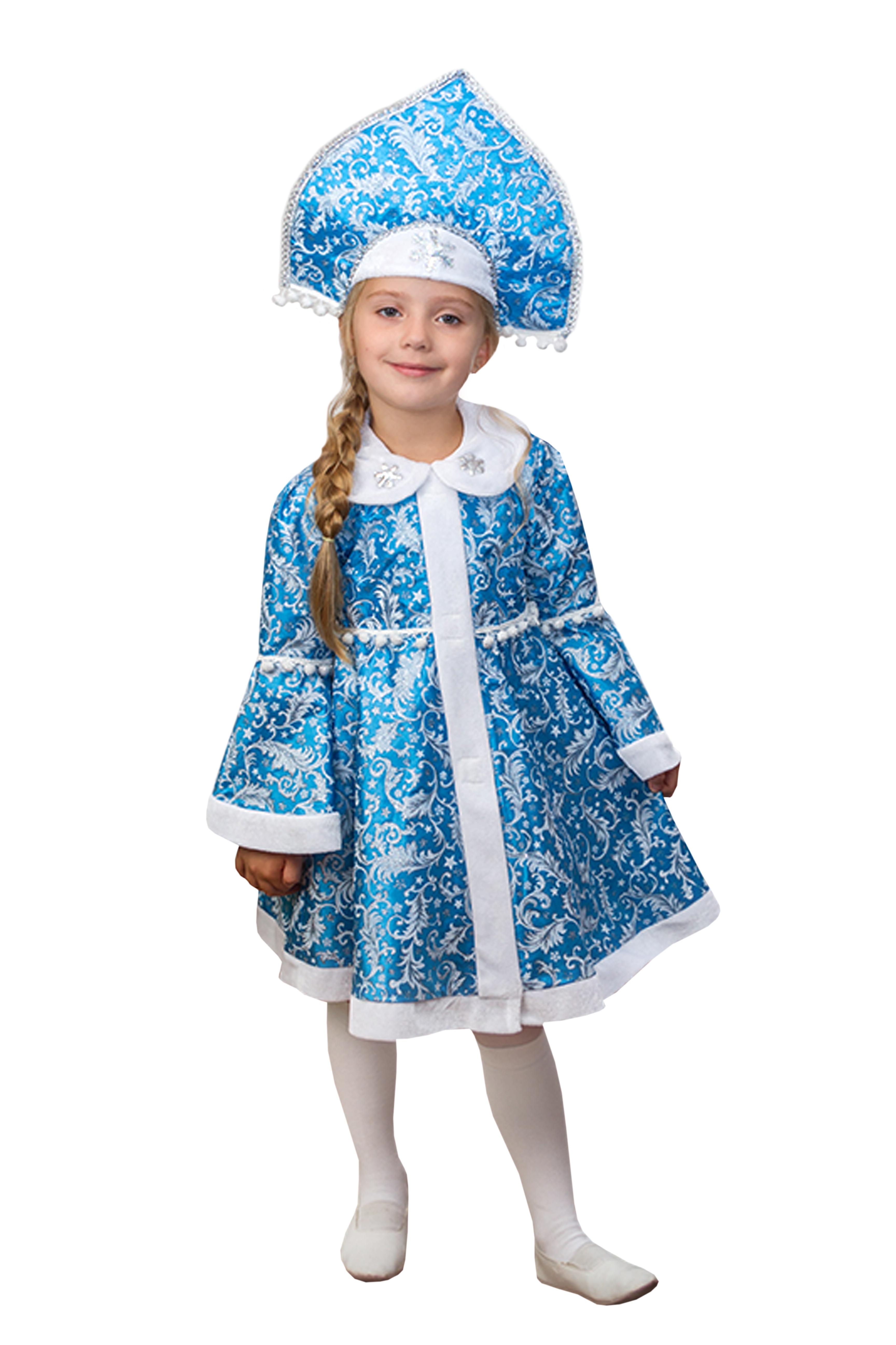 Детский костюм Снегурочки-внучки (32) костюм снегурочки конфетки 40 44