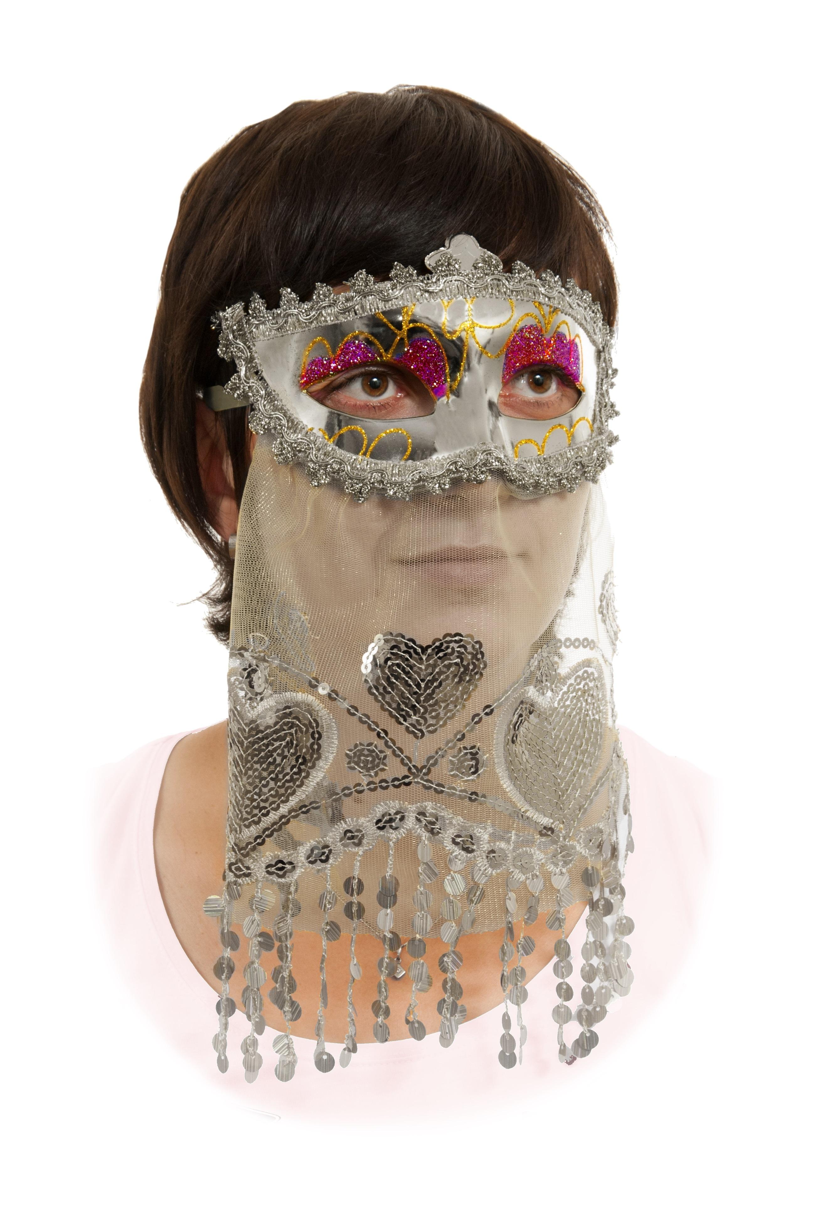 Маска с вуалью (UNI) - Карнавальные маски