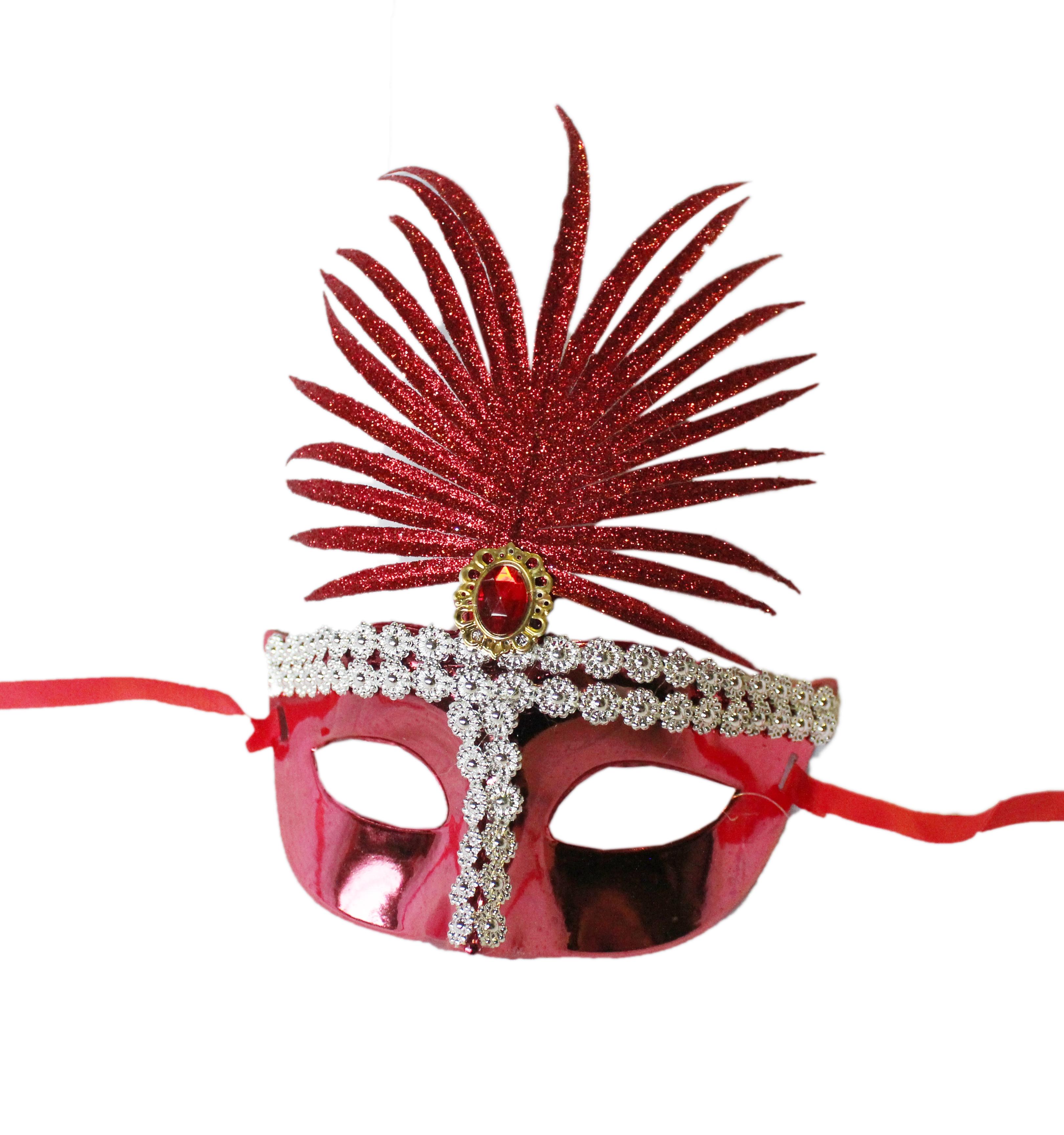 Красная сказочная маска (UNI) -  Карнавальные маски