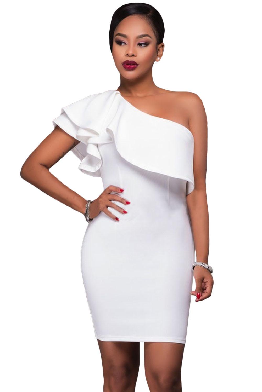 Белое ассиметричное платье (40-42) белое платье