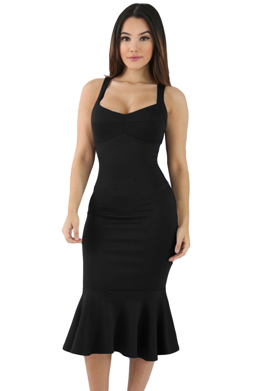 Элегантное черное платье (40-42) -  Платья для клуба