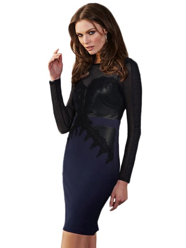 Темно-синее клубное платье (42-44) -  Платья для клуба