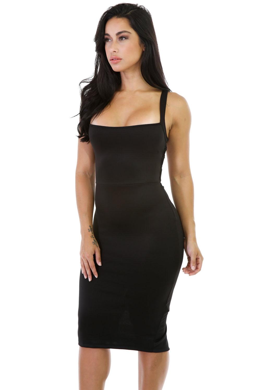 Черное платье с сетчатой спиной (40-42) -  Платья для клуба