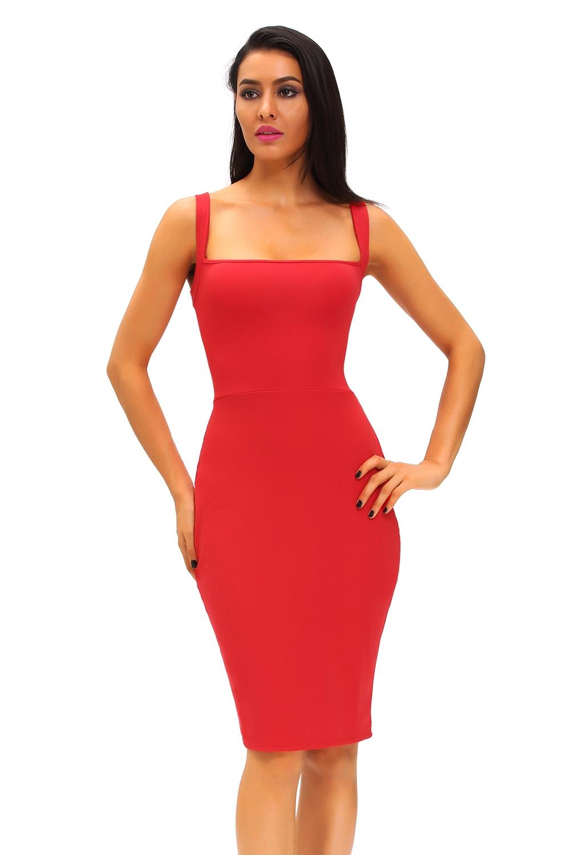 Красное платье с сетчатой спиной (40-42) -  Платья для клуба
