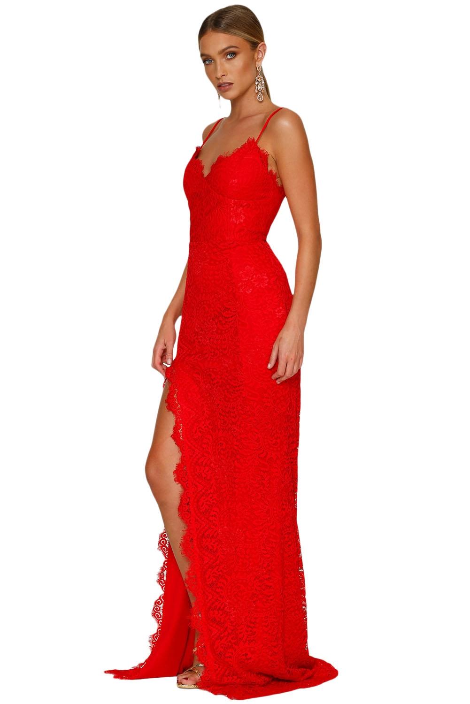 Красное платье в пол (40-42)
