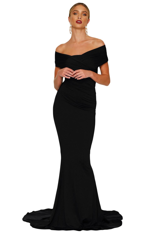Черное платье в пол (40-42) элегантное черное платье где