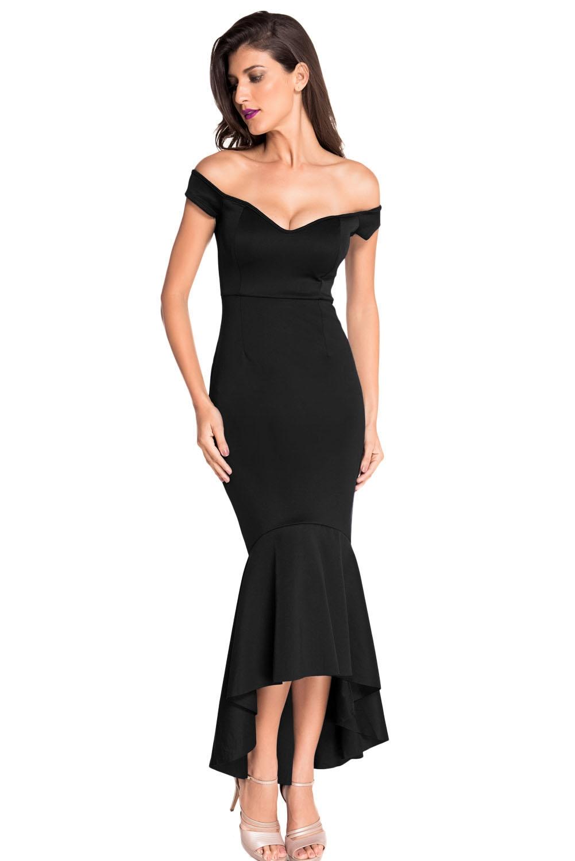 Вечернее классическое черное платье (46-48) элегантное черное платье где
