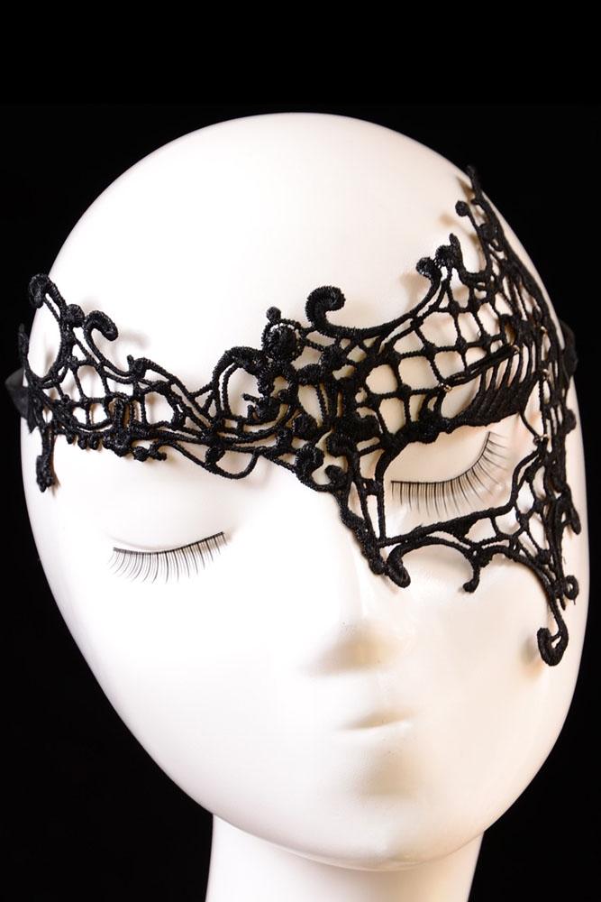 Кружевная маска на один глаз (UNI) - Карнавальные маски