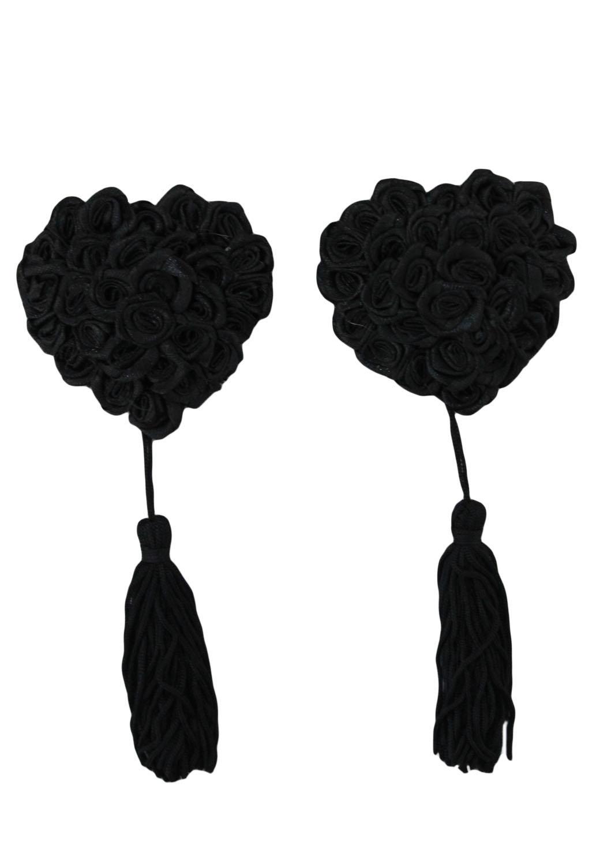 Черные наклейки на соски (UNI) страпоны аромат – кедровое дерево