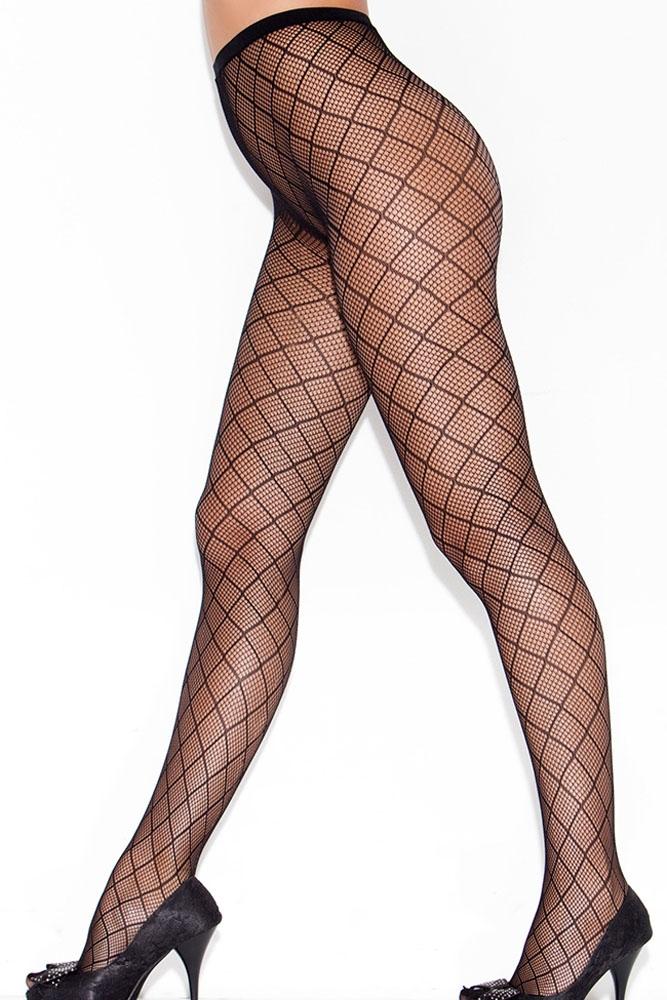Черные колготки с ромбовидным узором (42-44) пижама жен mia cara майка шорты botanical aw15 ubl lst 264 р 42 44 1119503