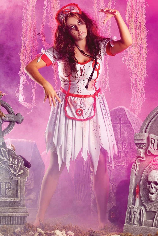 Разорванный костюм зомби медсестры (46) костюм внимательной медсестры 42 46
