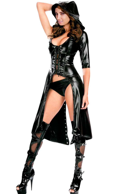 Черный готичный костюм Ассасина (46) пальто vuall черный