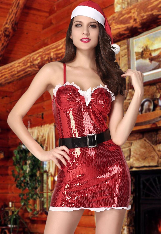 Блестящий костюм Санты (42-44) -  Новогодние костюмы