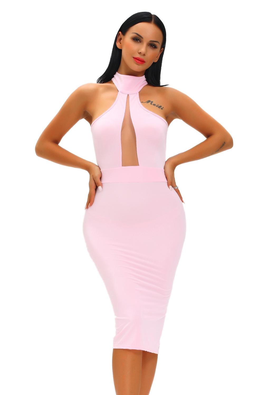 Нежное розовое платье (40-42) -  Платья для клуба