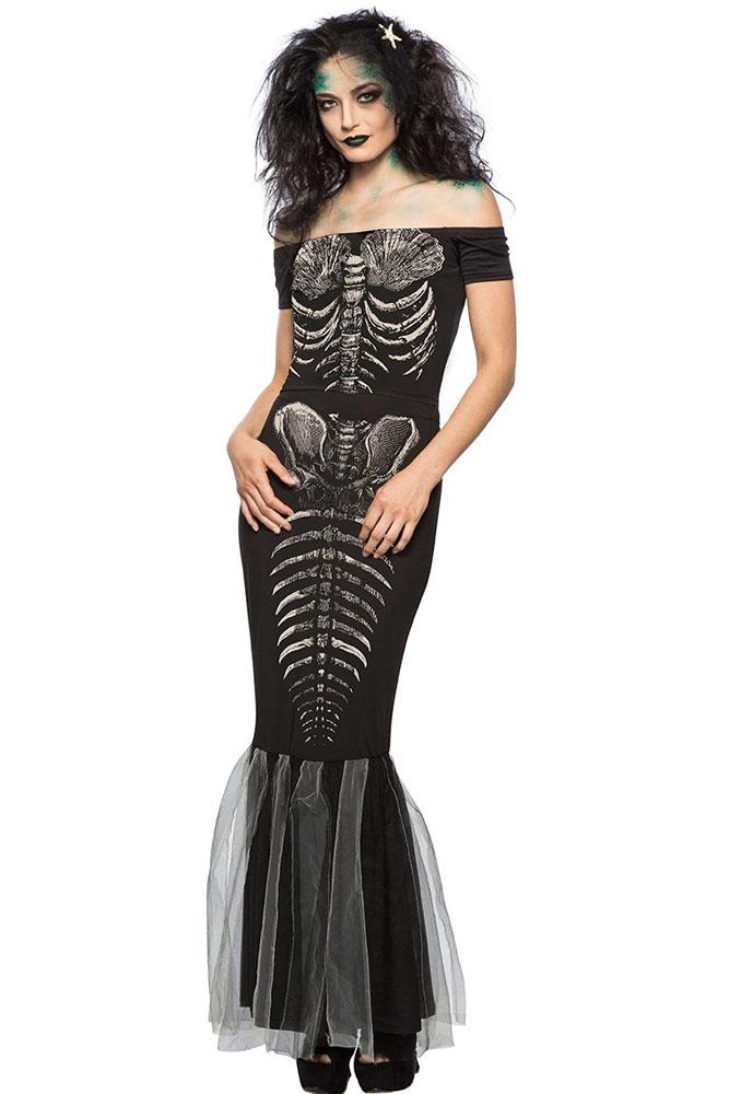 Черное платье Скелета (40-42) -  Нечистая сила