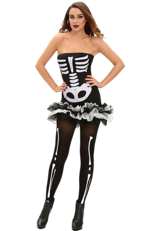 Короткое платье Скелета (42-44) -  Нечистая сила