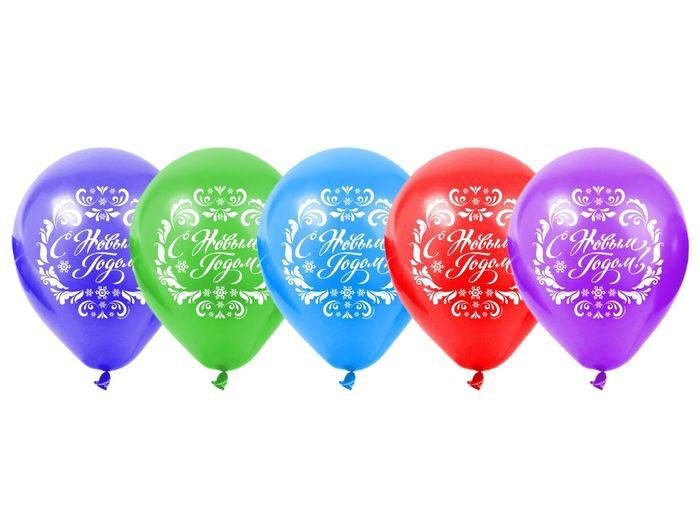5 новогодних шаров (UNI) - Аксессуары на Новый год