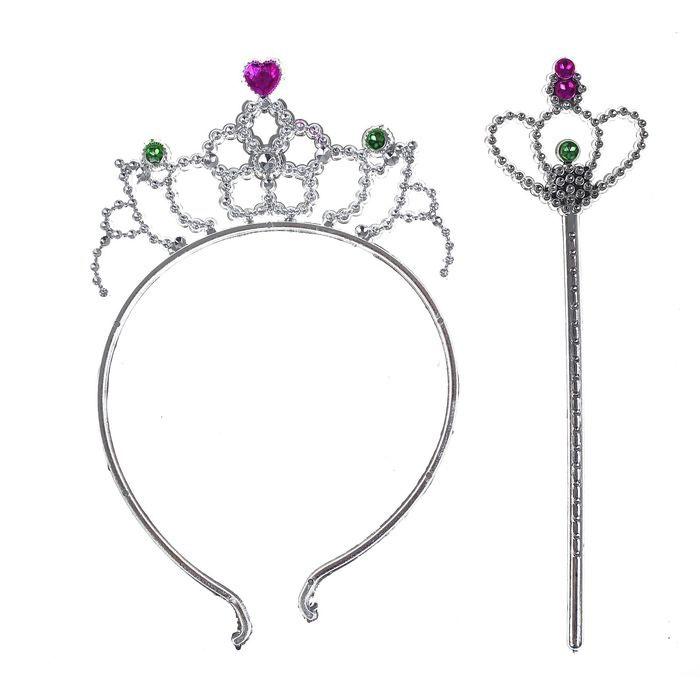 Тиара и жезл принцессы (UNI) -  Аксессуары на карнавал