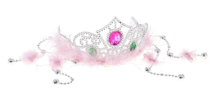Корона с пухом Царица (UNI) - Аксессуары на карнавал