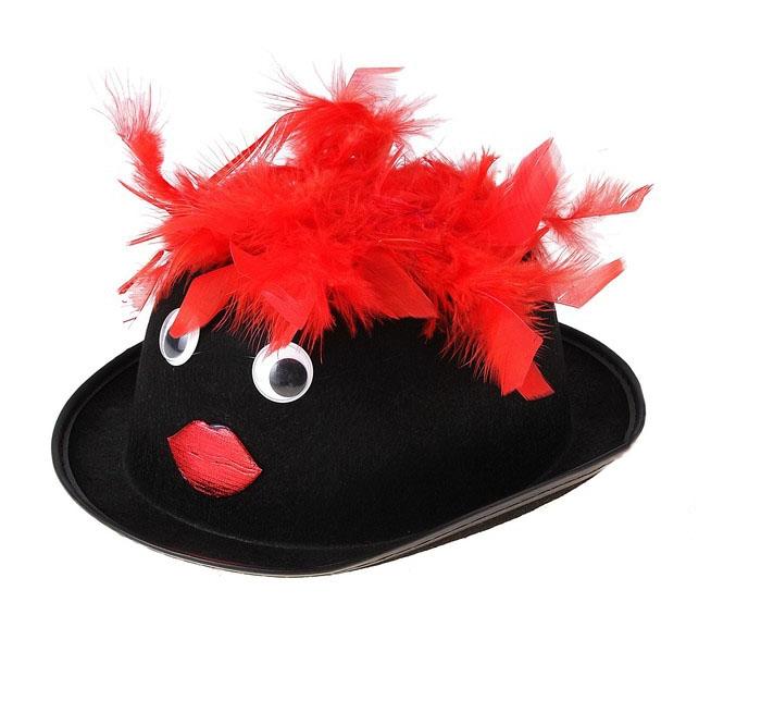 Черная шляпа с глазами (UNI) - Шляпы карнавальные