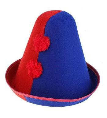 Сине-красная шапка клоуна (UNI) - Шляпы карнавальные