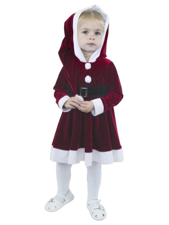 Костюм маленькой подружки Санты (22-24) -  Новогодние костюмы