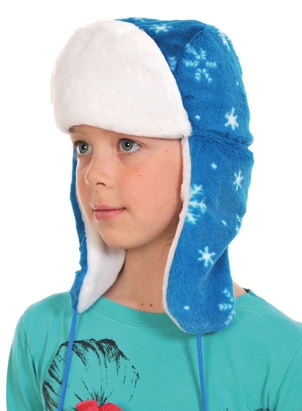 Голубая шапка ушанка (UNI) - Аксессуары на Новый год