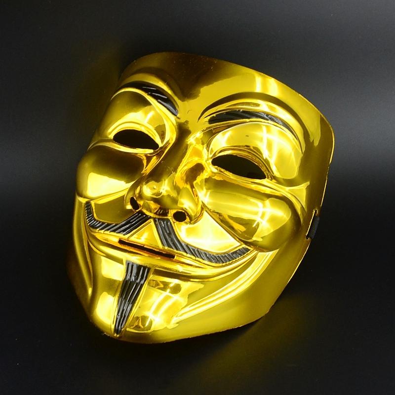Маска Золотой Гай Фокс (UNI) - Карнавальные маски