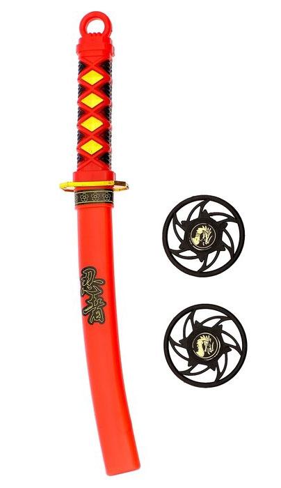 Катана и сюрикены ниндзя (UNI) - Бутафорское оружие
