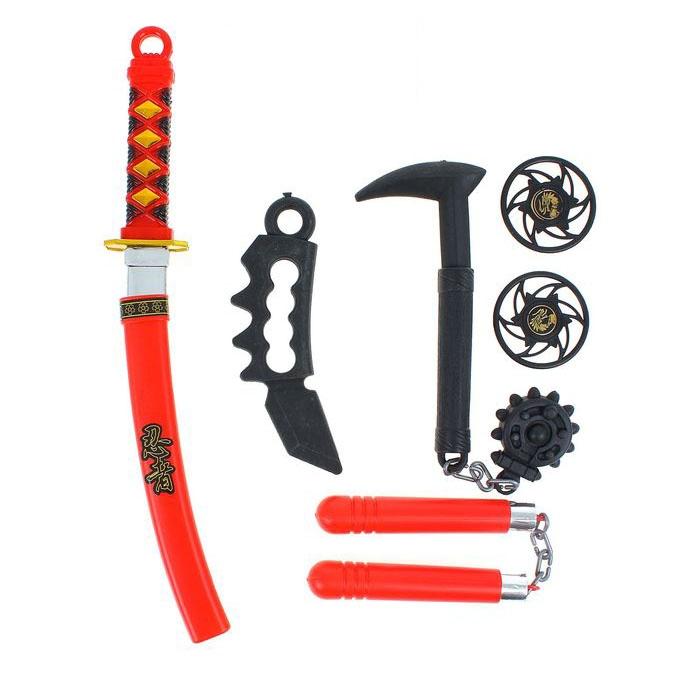 Набор оружия ниндзя с булавой (UNI) - Бутафорское оружие