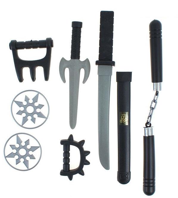 Черный набор оружия ниндзя (UNI) - Бутафорское оружие