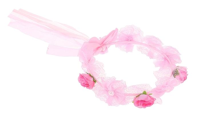 Розовый венок (UNI) - Аксессуары на карнавал